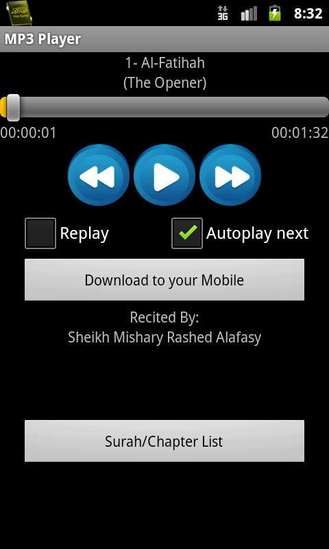 Quran MP3 With Kurdish - screenshot