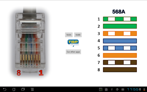 Ethernet RJ45 wiring connector pinout and colors