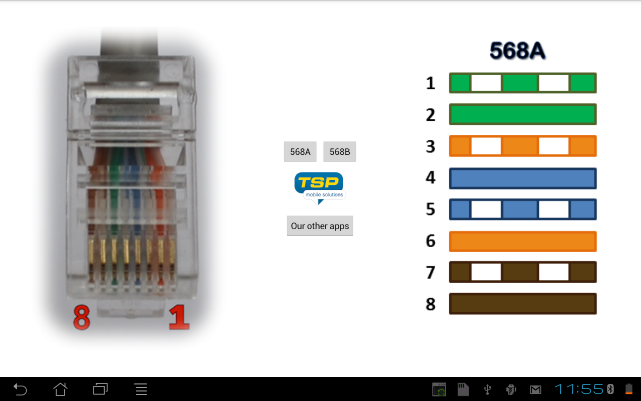 Ethernet rj45 wiring connector pinout and colors android apps ethernet rj45 wiring connector pinout and colors screenshot pooptronica