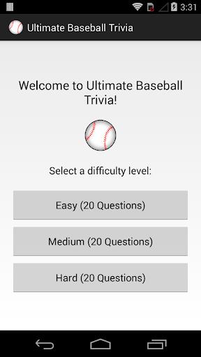 Ultimate Baseball Trivia