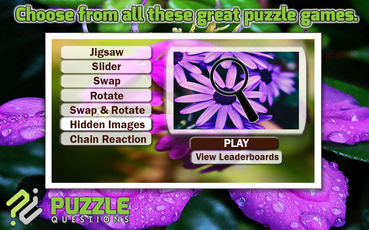 free purple flower puzzle game android apps on google play