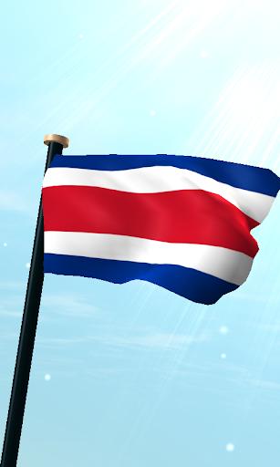 哥斯達黎加旗3D動態桌布
