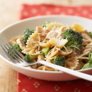 Bow Tie Pasta with Chicken and Broccoli.