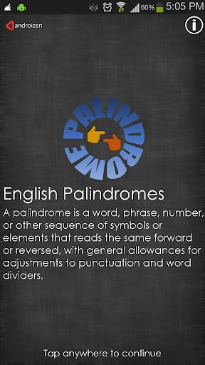 English Palindromes