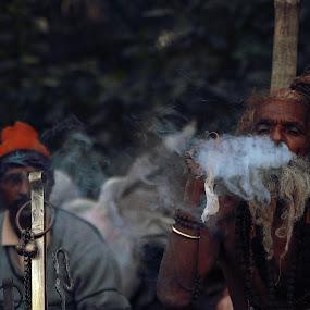Smoking Monk by Surajit Rudra - Digital Art People