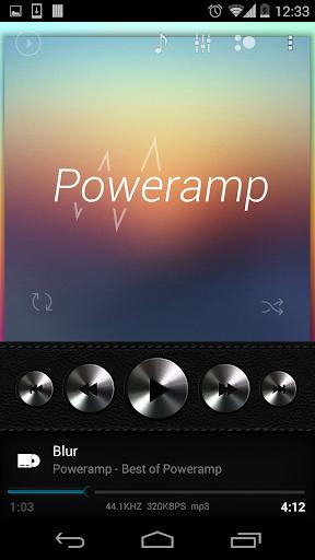 Skin for Poweramp Dark Leather  screenshots 1