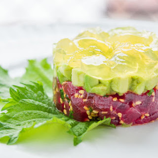 Tuna Tartare with Yuzu Gelée