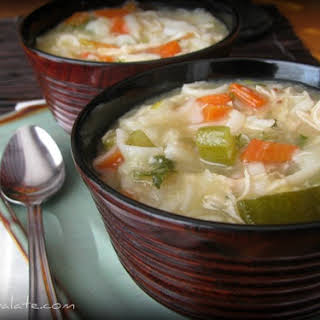 Chunky Chicken Noodle and Vegetable Soup.