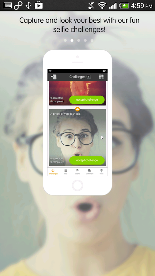 Selfiely: Share Selfies Easily- screenshot