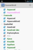 Screenshot of Quasseldroid