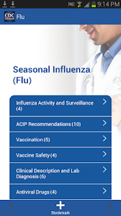 CDC Influenza (flu) - screenshot thumbnail