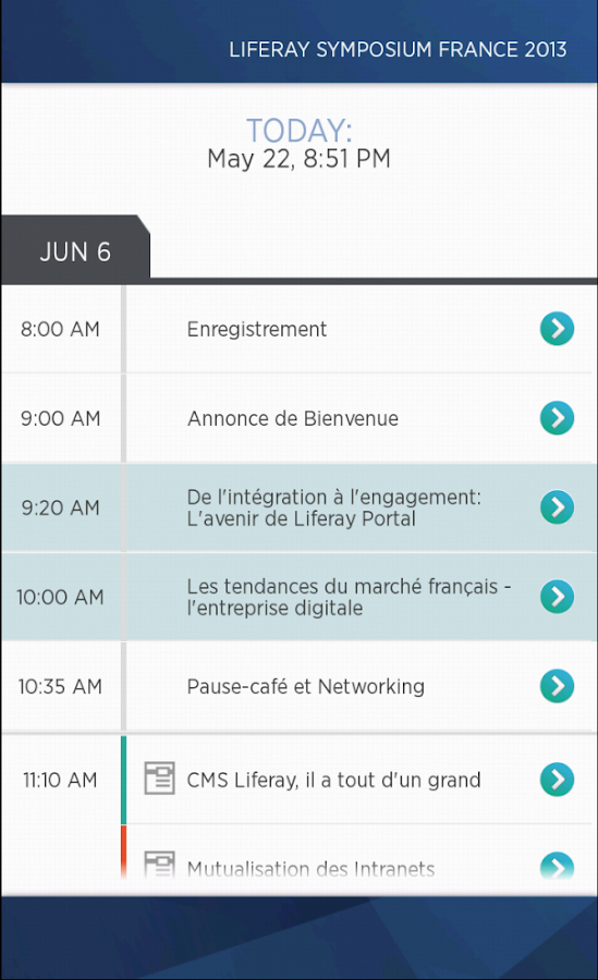 Liferay Events - screenshot