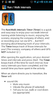 Run / Walk Intervals Timer - screenshot thumbnail