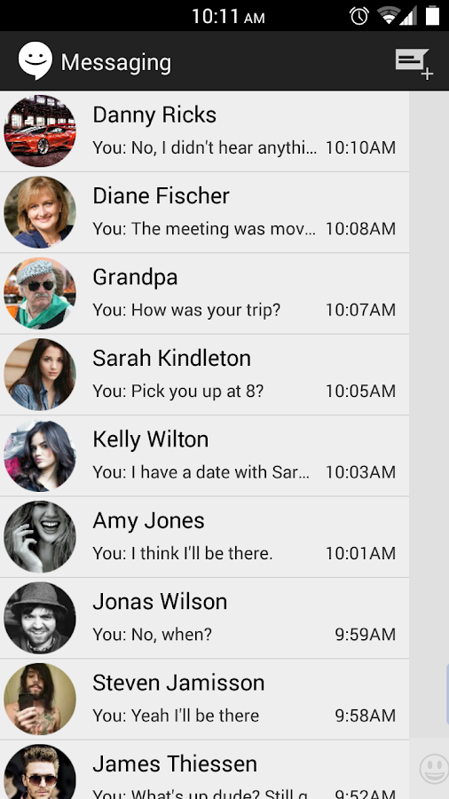 Sliding SMS (CM Messaging) - screenshot