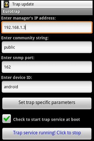 SNMP Trap Agent - screenshot