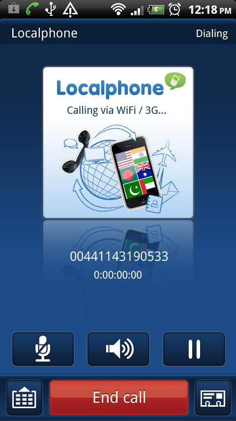 Localphone International Calls - screenshot