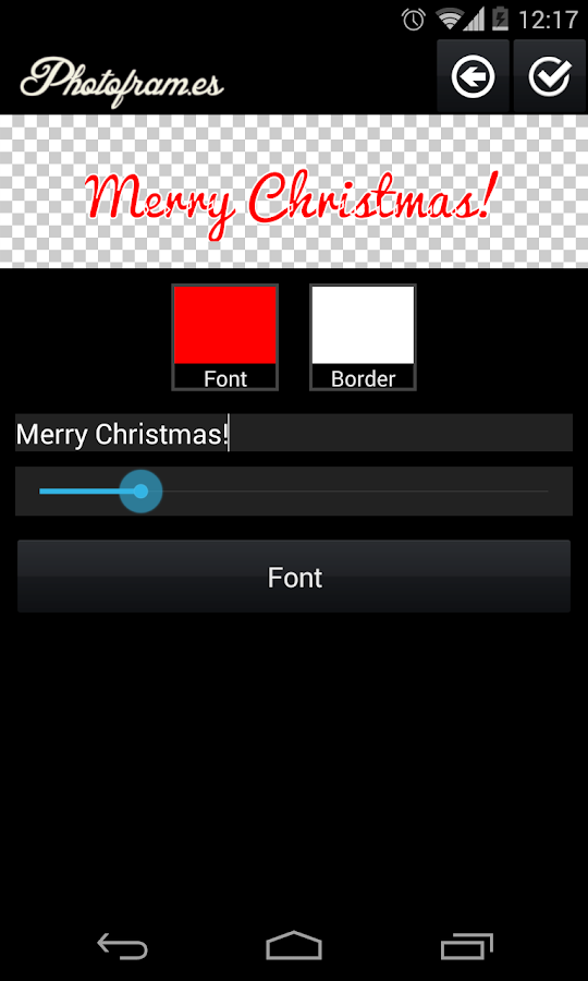 Christmas PhotoFrames - screenshot
