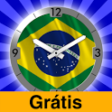 Brazil Flag Analog Clock Lite icon