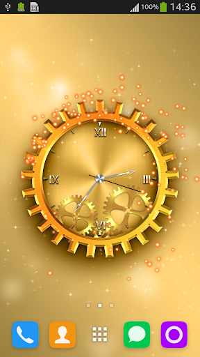 Golden Clock Live Wallpaper