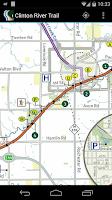Screenshot of Clinton River Trail Map