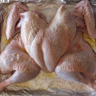 Spatchcocked Turkey.