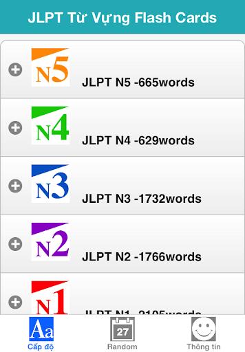 JLPT Từ Vựng T.Nhật Flash Card