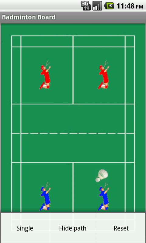 Badminton Tactics Board Lite - screenshot