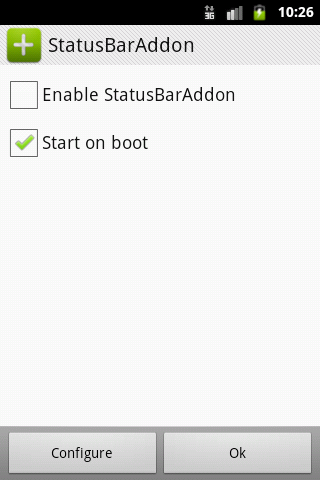 StatusBarAddon- screenshot