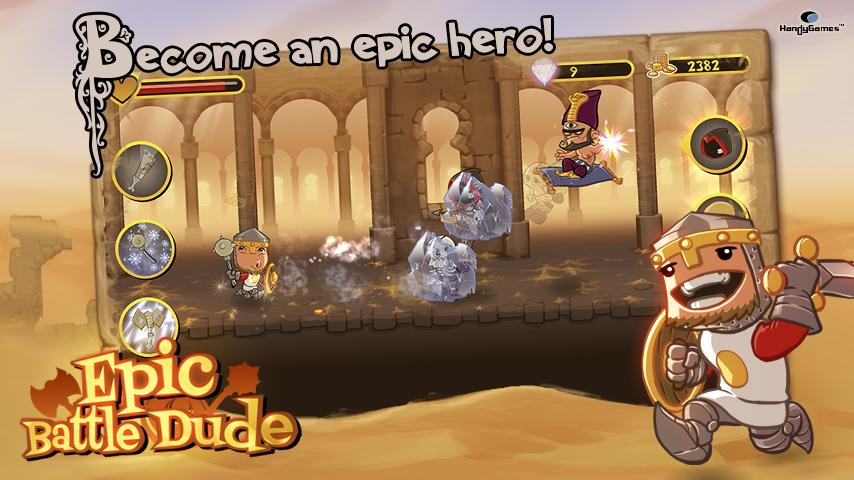 Epic Battle Dude- screenshot