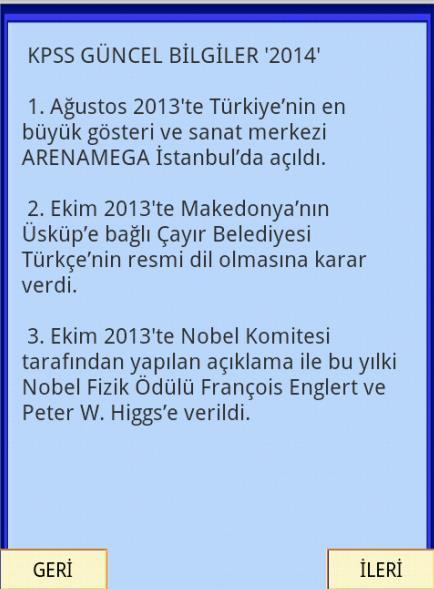 KPSS GÜNCEL BİLGİLER 2014- screenshot