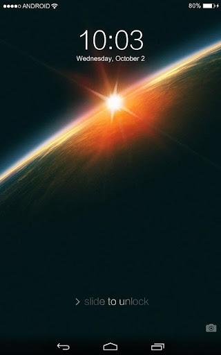 鎖屏:Galaxy宇宙空間