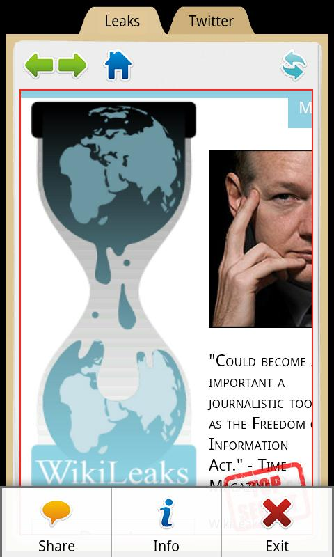 WikiLeaks - screenshot