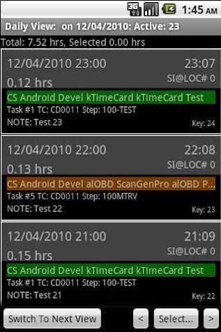 kTime Card Screenshot