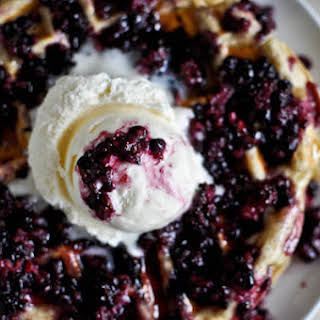 Blackberry Cobbler Waffles.