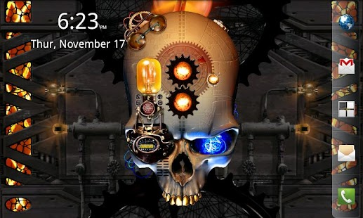 Steampunk Skull Free Wallpaper Screenshot 8