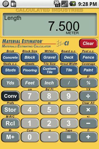 Material Estimator Calculator- screenshot