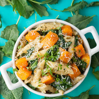 Pesto Penne with Roasted Butternut Squash and Kale
