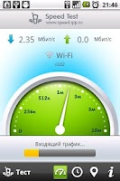Screenshot of QIP Speed Test