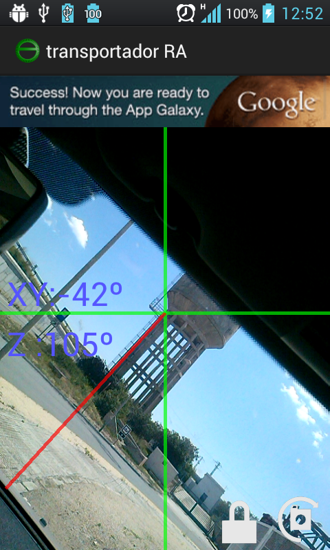 Augmented Reality protractor- screenshot