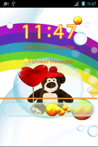 Cute Teddy Bear for GO Locker- screenshot