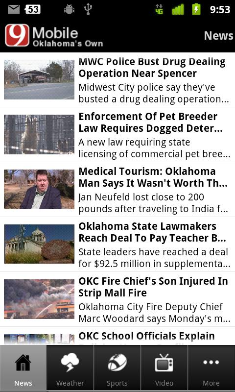 News 9 Oklahoma's Own - screenshot