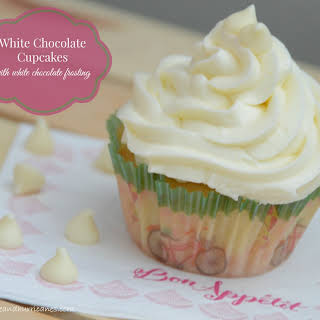 White Chocolate Cupcakes with White Chocolate Frosting.