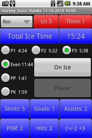 Hockey Stats- screenshot