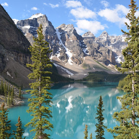 Beautiful Moraine Lake by Jennifer Parmelee - Landscapes Mountains & Hills ( nature, lakes, places, landscape, mountain's,  )