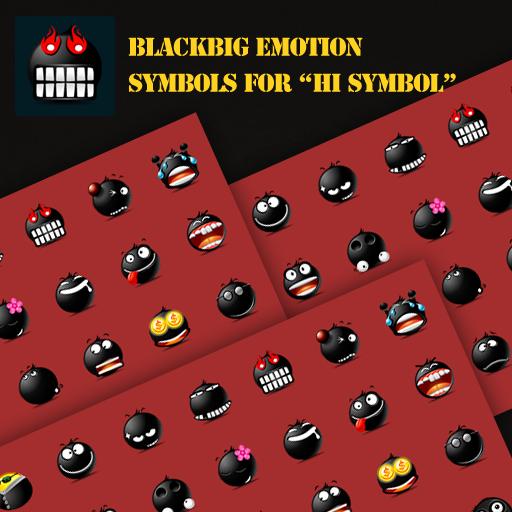 BlackBig emotion symbols