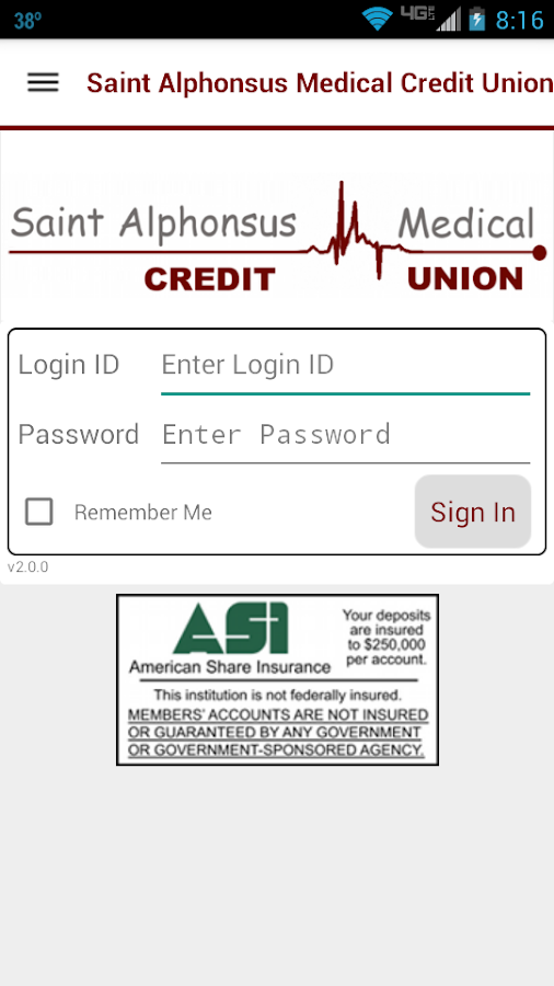 SAMCU Mobile Banking- screenshot