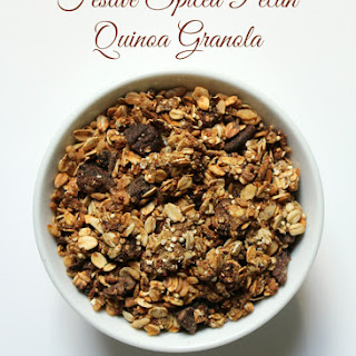 Festive Spiced Pecan Quinoa Granola