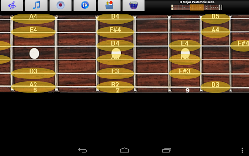 玩免費音樂APP|下載ギターのスケール&無料和音 app不用錢|硬是要APP