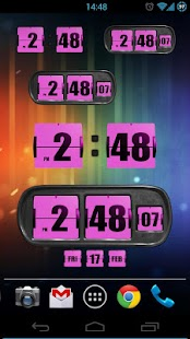 3D Animated Flip Clock PINK- screenshot thumbnail