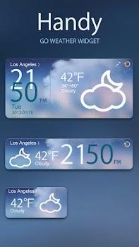Handy GO Weather Widget Theme